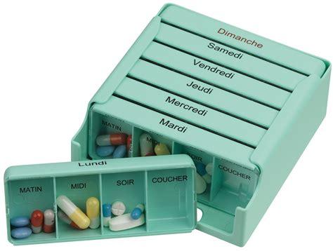 boite pour ranger les medicaments pilulier semainier