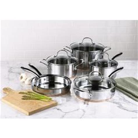 wolfgang puck stainless steel cookware set  pc