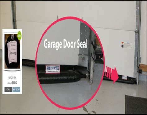 overcoming garage door bottom seal  uneven floor
