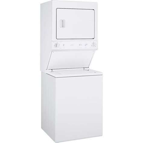 ge  cu ft unitized spacemaker washer  electric dryer color white  lowescom