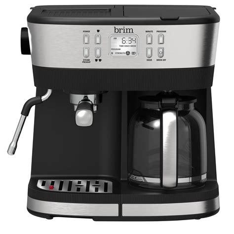 No one tests coffee makers like we do. Brim Combo 19 Bar Espresso & Drip Coffee Maker - BRIM