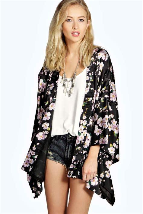 boohoo womens boutique floral kimono jacket ebay