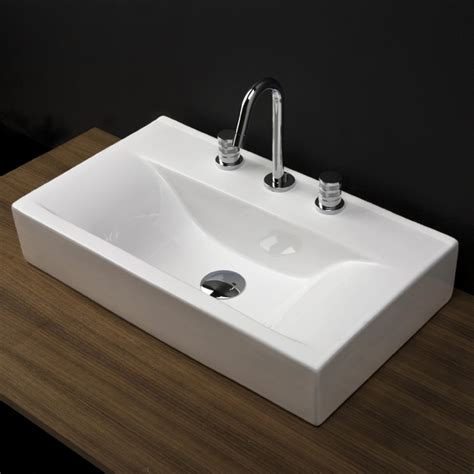 vanity with top and sink lacava 5461 spring porcelain vanity top with an overflow