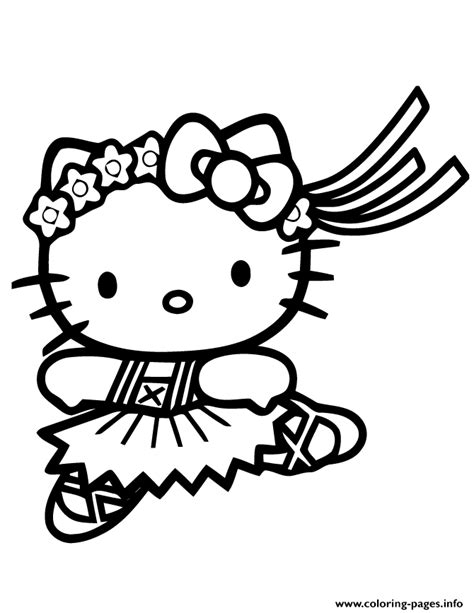 Print cute hello kitty ballet coloring pages キティ 色 イラスト