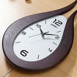 Horloge Murale Silencieuse : horloge murale silencieuse en bois feu simple moderne ~ Melissatoandfro.com Idées de Décoration