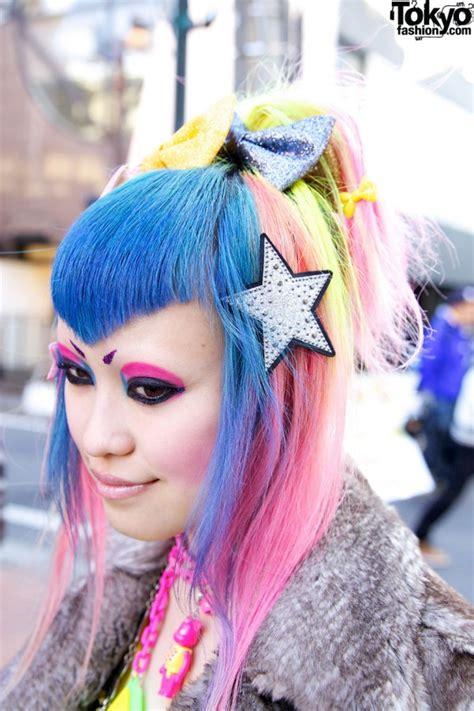 dokidoki vani  rainbow hairstyle cute accessories