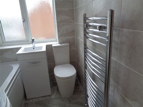 Bathroom Converted To New Style Bathroom With P Shaped Bath
