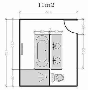 plan de salle de bains de 5 a 11 m2 conseils d With dessiner plan de maison 9 baignoire rectangulaire