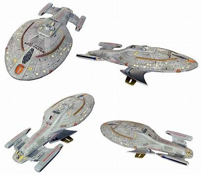 Trek Voyager Star Ship Uss Space Isolated