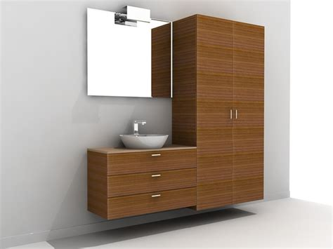 bathroom vanity with tall cabinet tall bathroom vanity cabinet 3d model 3ds max autocad