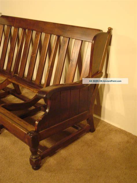 ethan allen wood frame sofa tavern chainimage