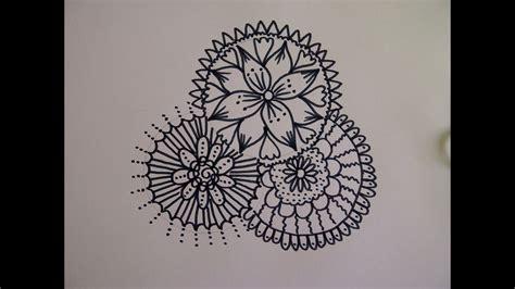 zentangle zeichnung mandala zeichnen zeitraffer simple