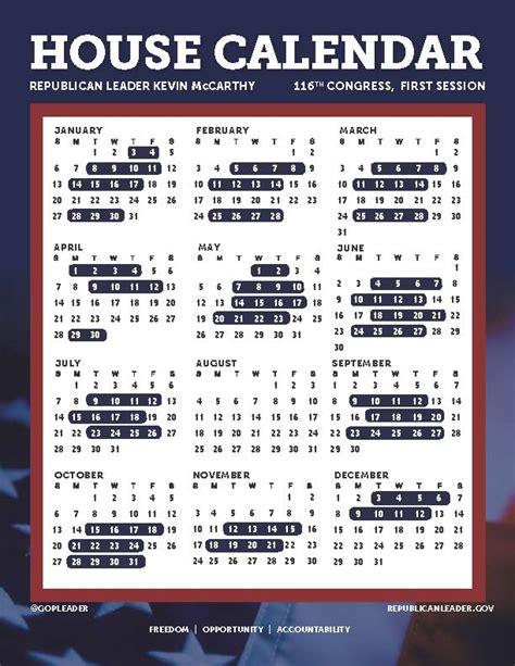congressional calendar congress azbio
