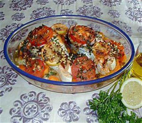 cuisiner le poisson au four recette de poisson au four à la marocaine