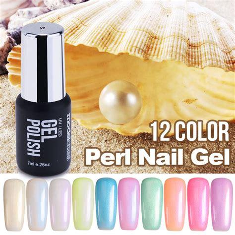 uv l nail polish modelones newest 7ml fashion pearl uv nail gel polish uv