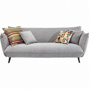 Canapé Design 3 Places : canap gris en tissu 3 places molly meubles kare design ~ Teatrodelosmanantiales.com Idées de Décoration