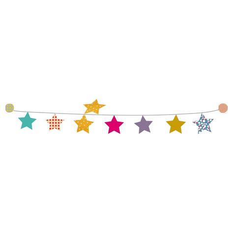 deco chambre bebe fille kit guirlande étoiles sticker mimilou pour chambre enfant