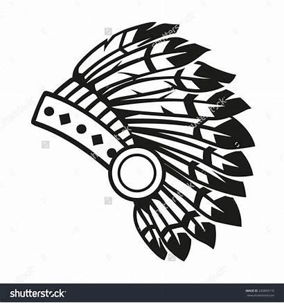 Headdress Indian Clipart Native Clip American Clipartlook