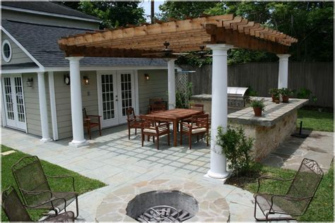 Pergola Backyard Bbq Designs