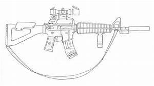 M4A1 sketch by LightningHawk on DeviantArt