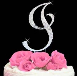 rhinestone monogram cake topper letter i cake topper initial i covered in rhinestone