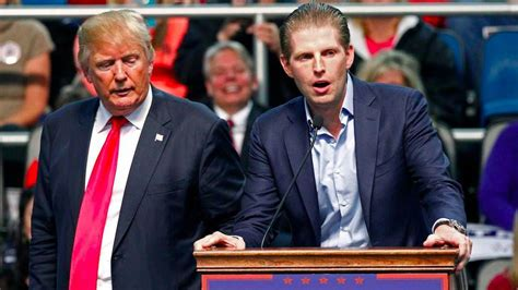 trump donald eric son his sister rally republican trumps sons threats receive problem listens candidate presidential speaks biloxi miss during