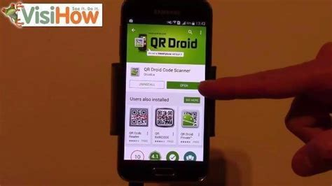 install and use qr code reader samsung galaxy s5 visihow