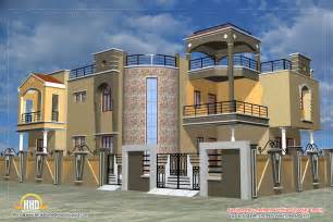 luxury indian home design with house plan 4200 sq ft - Floor Plans Luxury Homes