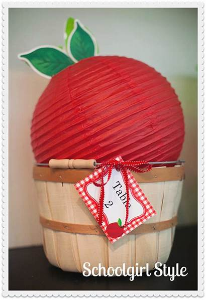 Apple Theme Classroom Bushel Schoolgirlstyle Lantern Baskets
