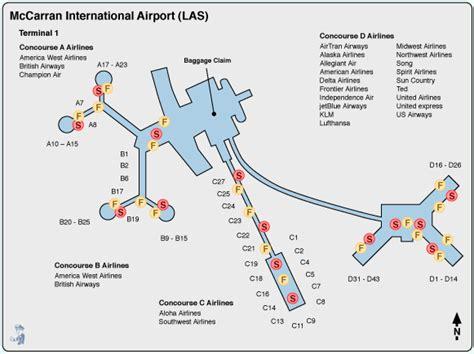 las vegas mccarran airport terminal map images