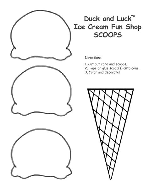 ice cream cone coloring sheet   printable pages