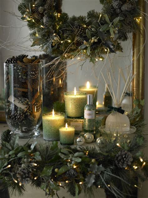 christmas decorated mantel pictures   images