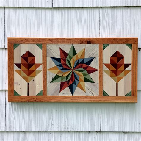 pallet wood barn quilt mosaic handmade