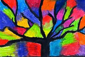 The Creative License: Oil Pastel Trees