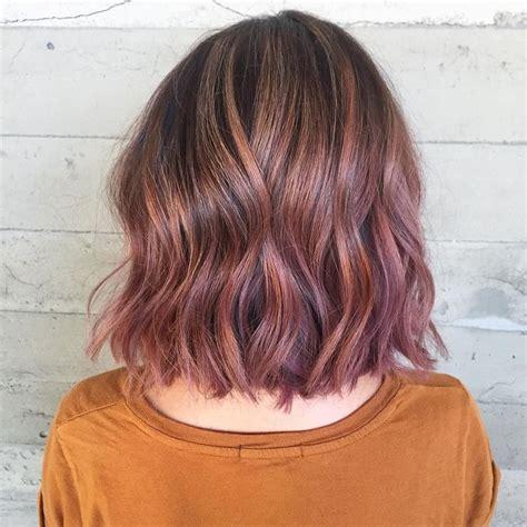 Image Result For Subtle Pink Highlights In Brown Hair