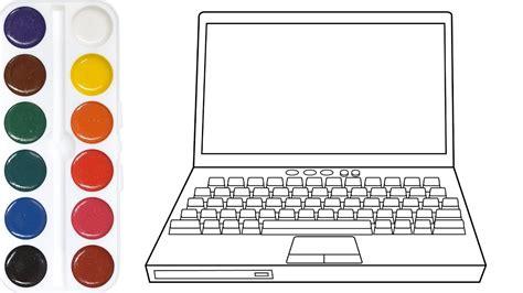 coloring  children  laptop computer computer