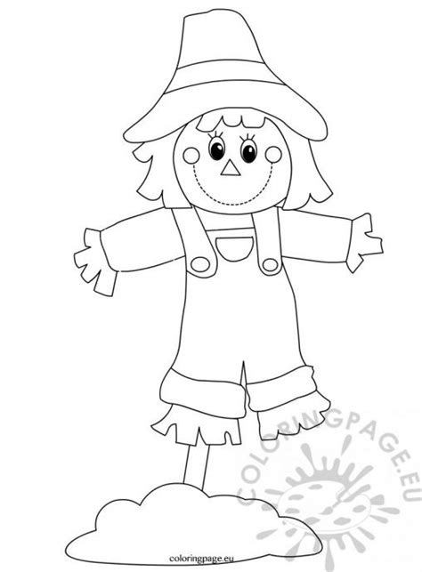 nature coloring page 829 | scarecrow printable2 508x690