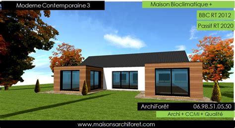 maison moderne en u maison contemporaine moderne et design d architecte constructeur ossature bois plan photo et