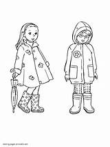 Coloring Pages Spring Clothing Printable Seasons Colouring sketch template