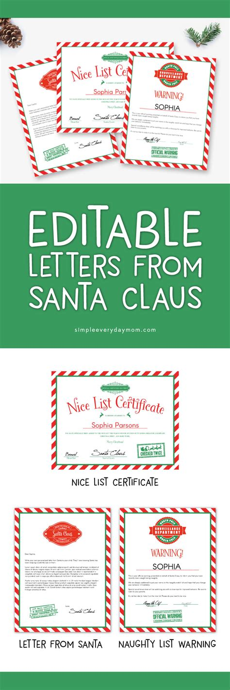 editable letters  santa   magical christmas