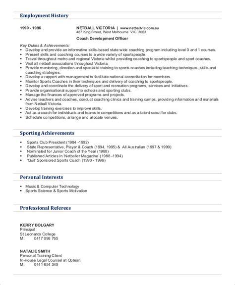 8 personal trainer resume templates pdf doc free