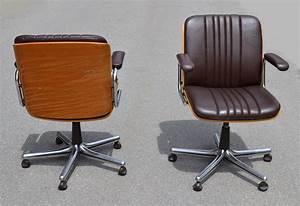 Chaise De Bureau Bois : des chaises design vintage des ann es 1950 80 de ~ Teatrodelosmanantiales.com Idées de Décoration