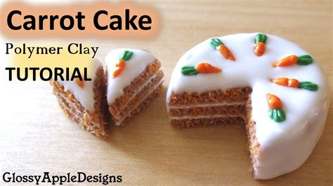 miniature carrot cake polymer clay tutorial