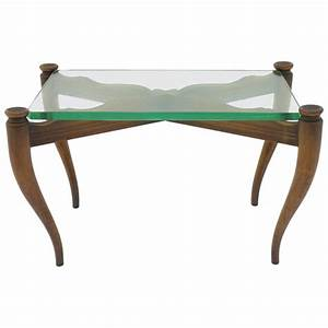 nice coffee table wood and glass italy 1950s for sale at With nice glass coffee tables