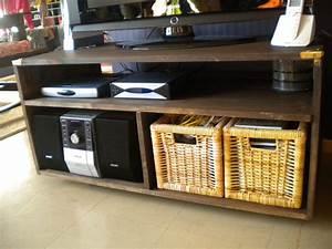 Meuble Fait Maison : meuble tv fait maison meuble tv vestiaire industriel ~ Voncanada.com Idées de Décoration