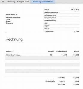 Rechnung Mit Mwst : numbers vorlage rechnung ~ Themetempest.com Abrechnung