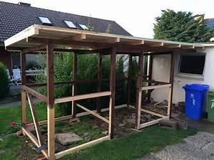Mit Brettern Verkleiden : ein festes dach f r den selbst gebauten kaminholzunterstand ~ Lizthompson.info Haus und Dekorationen