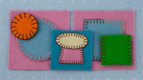 how to sew applique how to applique sew wool felt blanket stitch beginner