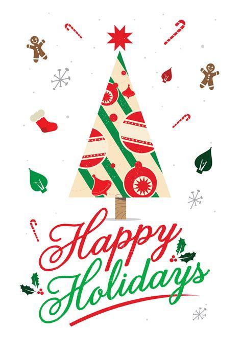 happy holidays christmas card   island