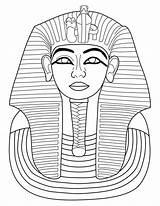 Pharaoh Coloring Sculpture Toutankhamon Egypt Medias Fr Ancient Printable Pages Draw Wolf sketch template